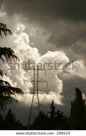 Stormy Power - stock photo