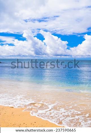 Stormy Scene Serene Waters  - stock photo