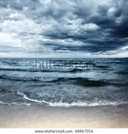 Stormy sea - stock photo