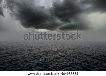 Stormy sea, abstract dark background - stock photo