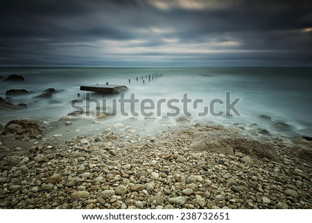 Stormy sea near Varna, Bulgaria - stock photo