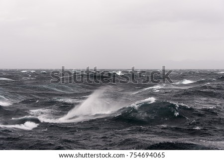 Stormy sea view