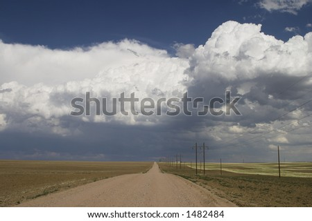 Stormy skies in agricultural Colorado - stock photo