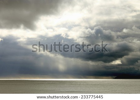 Stormy Skies over Sea - stock photo