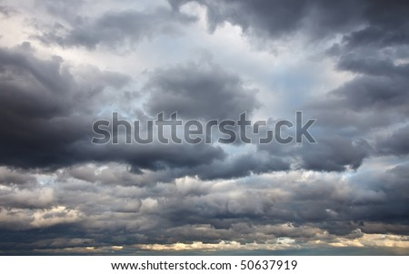 Stormy sky - stock photo