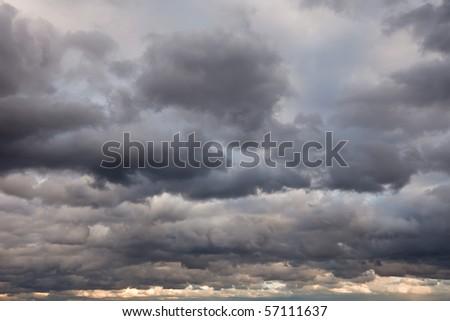 Stormy sky - stock photo