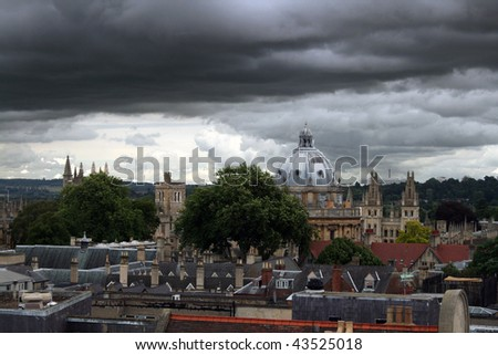 Stormy sky over Oxfords spires