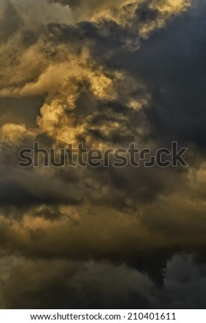 Stormy sky, scud cloud,  Webster County, West Virginia, USA - stock photo