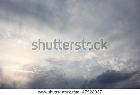 Stormy sky with clouds - stock photo