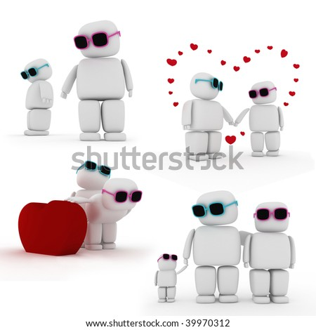 Story of Love - stock photo