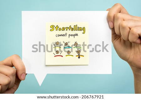 Storytelling message concept - stock photo