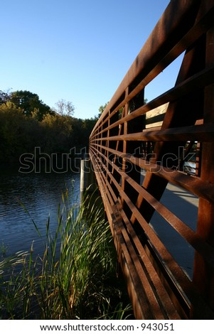 Stoughton, WI bridge - stock photo