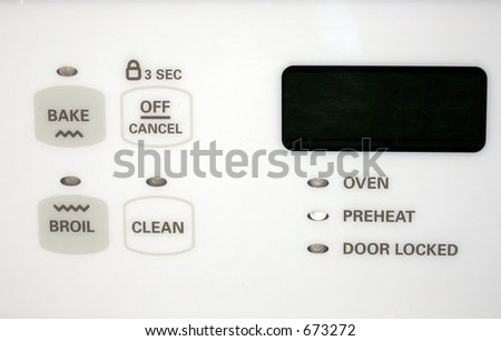 stove controls - stock photo