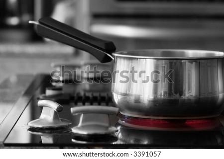 stovetop cooking - hot burner - stock photo