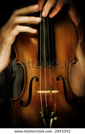 Stradivarius violin - stock photo