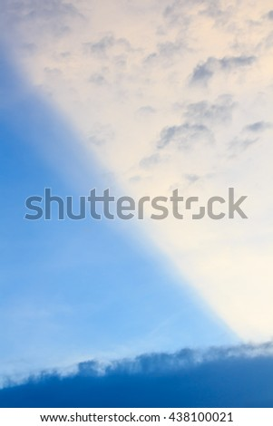 Straight-edged Cloud, a cloud with two very straight edges.  Blue sky Abstract background.