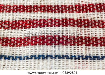 Straight red picnic cloth - stock photo