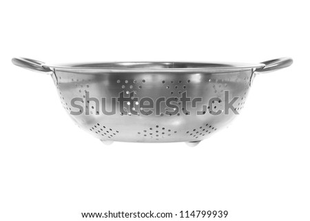 Strainer on White Background - stock photo