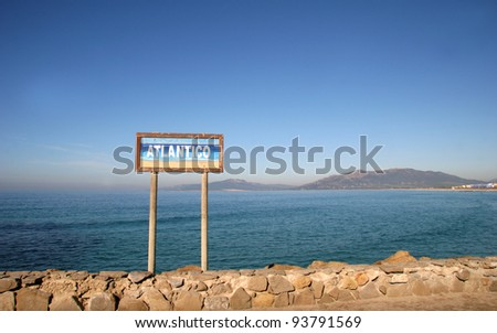 Strait of Gibraltar - Tarifa, Spain  (Southern Point of Europe - The place where Atlantic Ocean meets Mediterranean Sea)