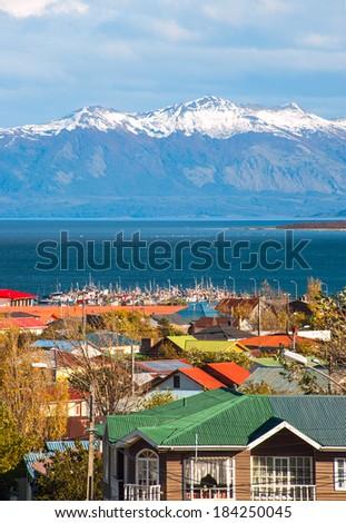Strait Of Magellan, Puerto Natales, Patagonia, Chile - stock photo