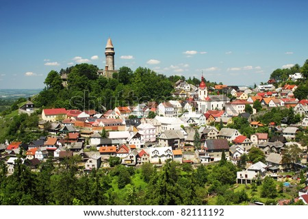 Stramberk castle tower, Czech republic - stock photo