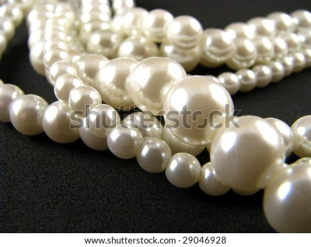 Strands of Pearls - stock photo