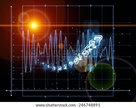 Strange Geometry series. Composition of line drawing, math and geometry related elements with metaphorical relationship to mathematics, science, education and  technology - stock photo