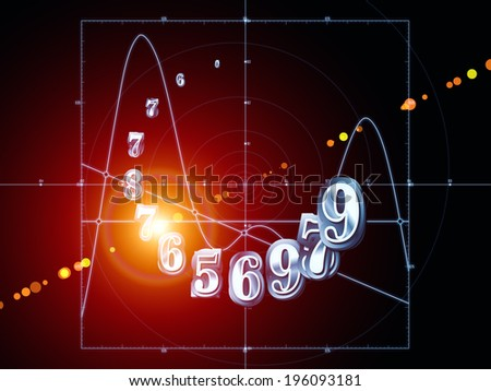 Strange Geometry series. Design made of line drawing, math and geometry related elements to serve as backdrop for projects related to mathematics, science, education and  technology - stock photo