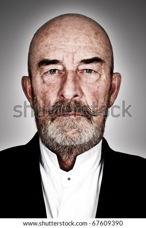 strange old  man with a grey beard - high details - stock photo