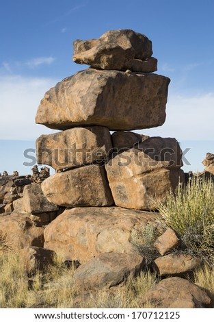 Strange rock formations in Namibia, Southern Africa - stock photo