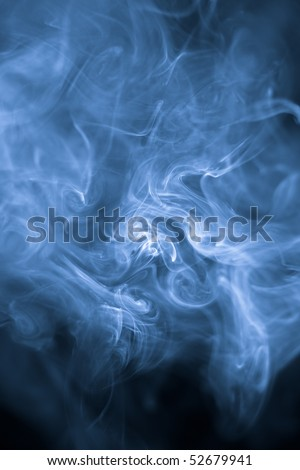 strangely shaped puff of smoke - stock photo