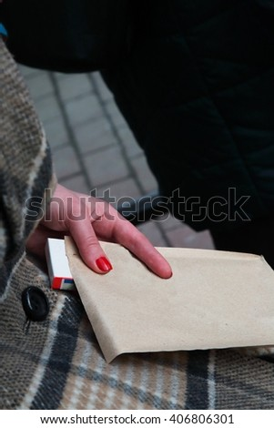 Stranger with an envelope