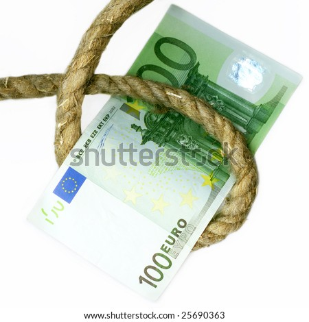 Stranglehold for euro. Financial crisis.