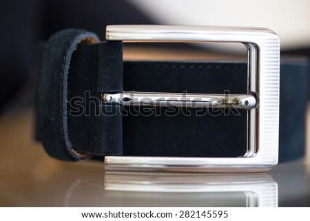Strap background foreground belt leather - stock photo