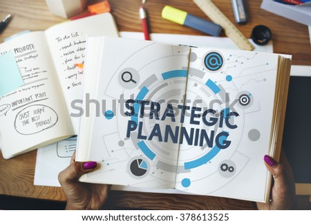 Strategic Planning Statement Vision Mission Concept - stock photo