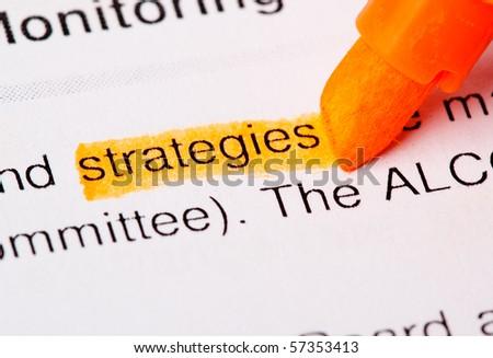 strategies - stock photo