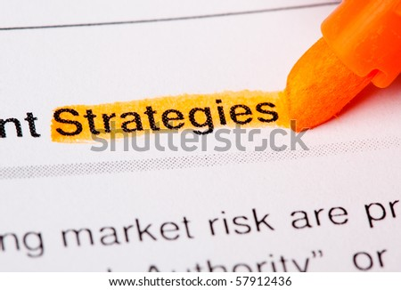 strategies word - stock photo