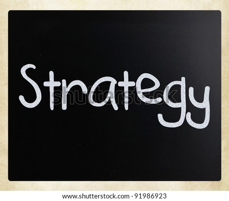 Strategy - stock photo