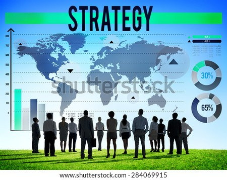 Strategy Business Development Process Solution Concept - stock photo