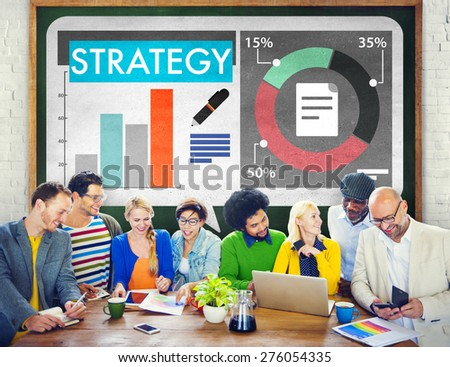 Strategy Business Plan Planning Solution Concept - stock photo