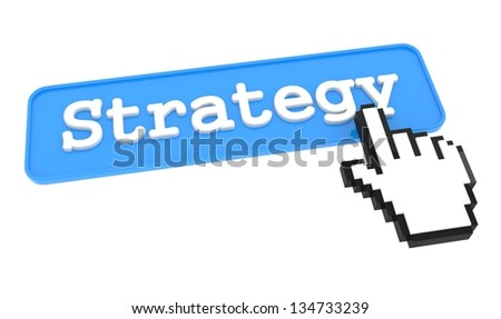 Strategy Button with  Hand Shaped mouse Cursor