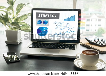 strategy Computing Computer  Laptop with screen on table