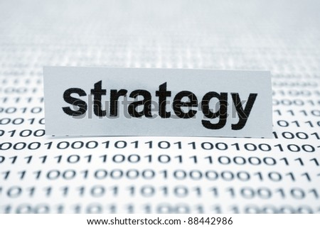 Strategy concept - stock photo