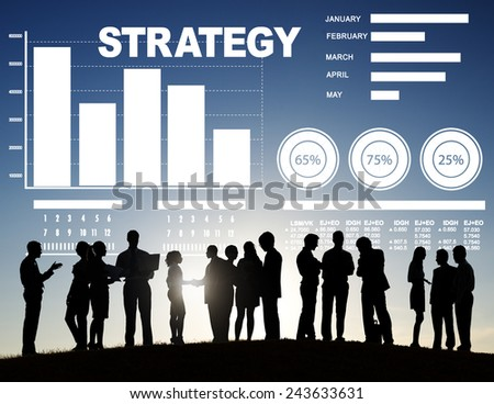 Strategy Data Information Plan Marketing Solution Vision Concept - stock photo