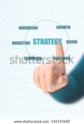 strategy diagram - stock photo