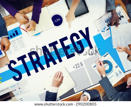 Strategy Guidelines Solution Plan Tactics Concept - stock photo