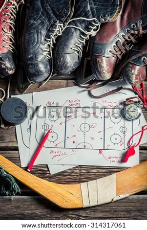 Strategy in hockey - stock photo