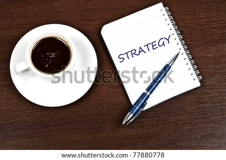 Strategy message and coffee