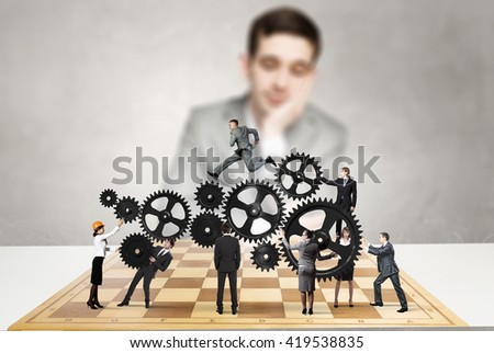 Strategy of teamwork in business - stock photo
