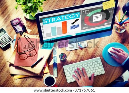 Strategy Plan Marketing Data Ideas Innovation Concept - stock photo